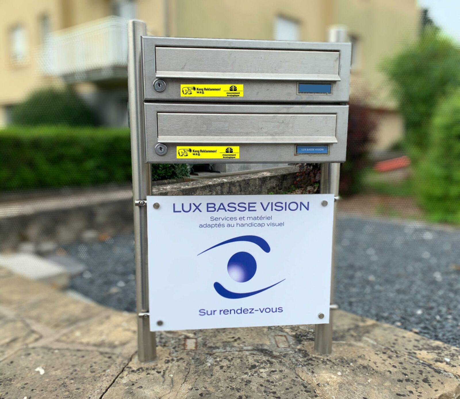 Plaque Dibond Lux Basse Vision
